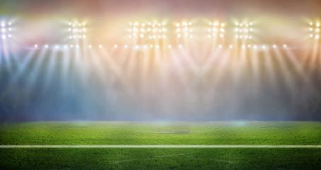 lights at night and stadium 3d render,