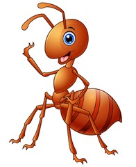 Happy ant cartoon