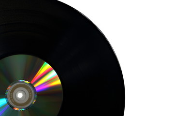Vinyl Record with Compact Disk