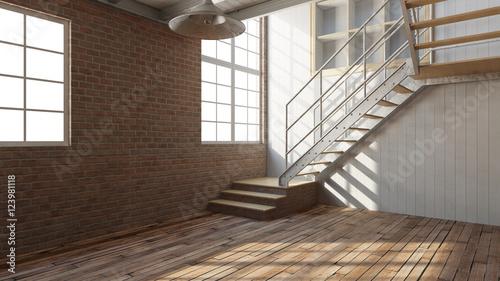 leerer raum in einem loft stockfotos und lizenzfreie. Black Bedroom Furniture Sets. Home Design Ideas