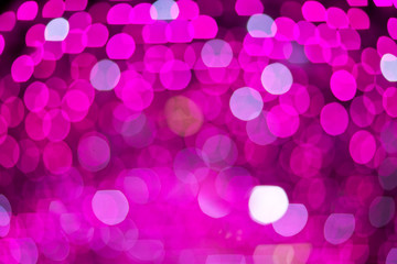 Abstract pinks blurred lights. Bokeh. Background