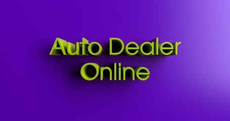 Auto Dealer Online - 3D rendered colorful headline illustration.  Can be used for an online banner ad or a print postcard.