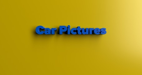 Car Pictures - 3D rendered colorful headline illustration.  Can be used for an online banner ad or a print postcard.