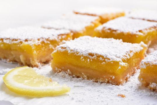 Fruit dessert lemon squares