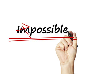 word Impossible into Possible