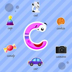 Funny letter C