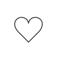 Love symbol. heart line icon, outline vector logo illustration, linear pictogram isolated on white