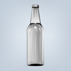Realistic isolated blank bottle of beer