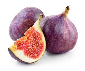 Fresh figs isolated on white background. With clipping path.