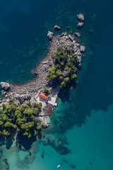 aerial view of the Greece coast line
