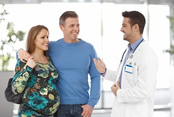 Couple on pregnancy consultation with doctor