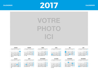 Calendrier 2017 personnalisable