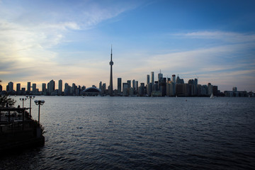 Sunset in Toronto panorama, Canada