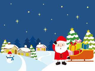 クリスマス 街並み 背景イラスト Adobe Stock でこのストックベクター