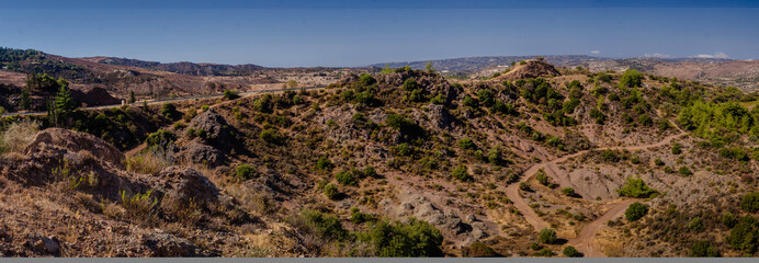 Panoramic views of the Troodos Mountains