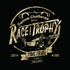 vintage vector race print