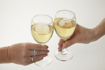 白ワイン 乾杯