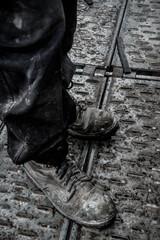 gros plan chaussures artisan
