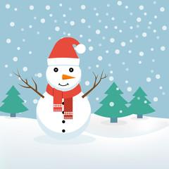 Snowman. Christmas, vector