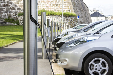 Electric car charging battery