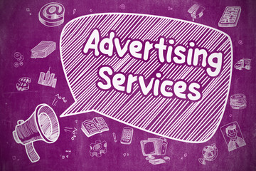 Advertising Services - Business Concept.