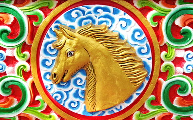 Horse is chinese zodiac animal sign.This Picture is Public.