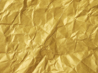 gold crumpled paper texture