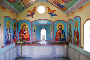 Frescoes at Krastova gora complex in Bulgaria