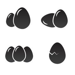 Eggs icon set. Vector art.