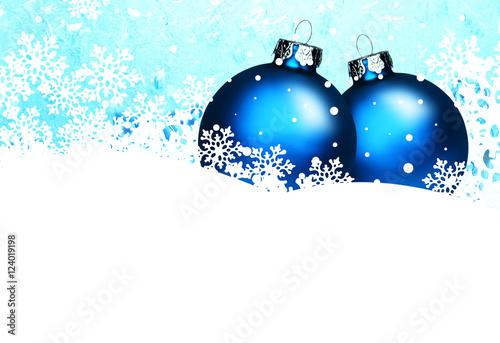 Zwei blaue christbaumkugeln 124019198 - Blaue christbaumkugeln ...