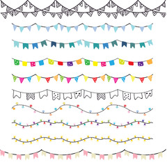 bunting and light elements