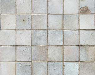 old crack tile wall