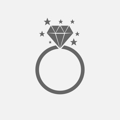 diamond ring vector.