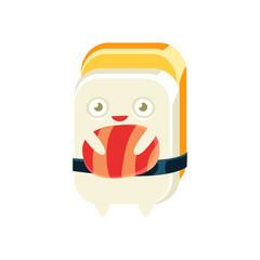 Geisha Funny Maki Sushi Character
