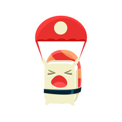 Kamikaze Funny Maki Sushi Character