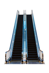 Escalator isolated on a white background