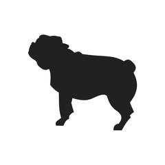 Pug Black Silhouette