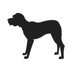 Mastiff Vector Black Silhouette