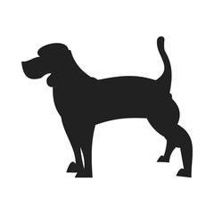 Beagle black silhouette