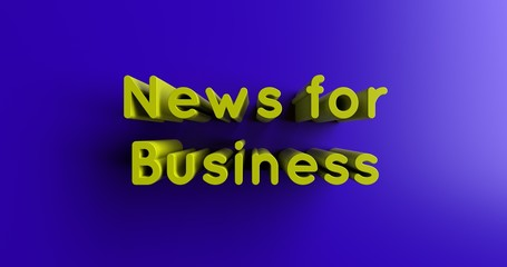 News for Business - 3D rendered colorful headline illustration.  Can be used for an online banner ad or a print postcard.