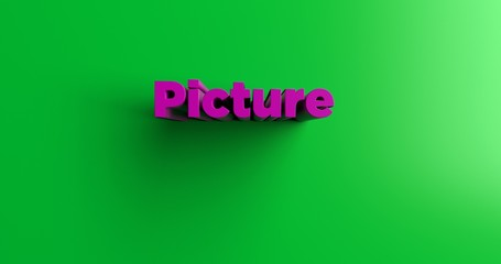 Picture - 3D rendered colorful headline illustration.  Can be used for an online banner ad or a print postcard.