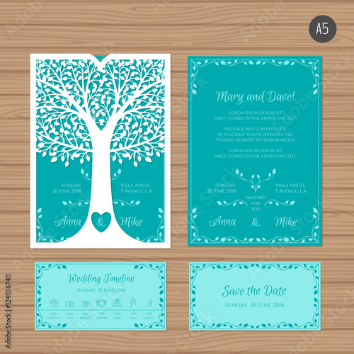 Wedding invitation or greeting card with tree paper lace envelope wedding invitation or greeting card with tree paper lace envelope template wedding invitation envelope stopboris Choice Image
