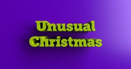 Unusual Christmas Gifts - 3D rendered colorful headline illustration.  Can be used for an online banner ad or a print postcard.