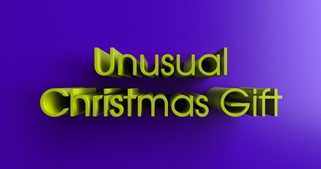 Unusual Christmas Gift Ideas - 3D rendered colorful headline illustration.  Can be used for an online banner ad or a print postcard.