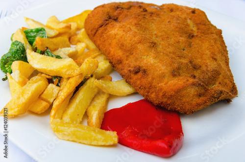 Cachopo asturian cuisine stock photo and royalty free for Asturian cuisine
