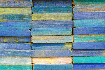 Stack of square wood planks for furniture materials and scaffold
