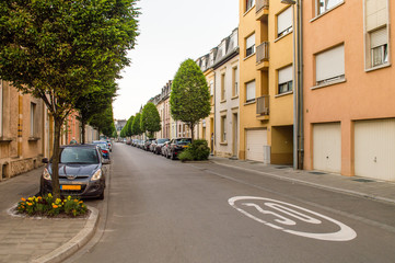 Typical street in Luxembourg