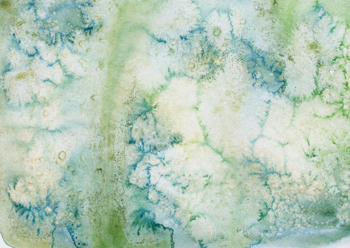 watercolor pale green texture. Hand painted marble background