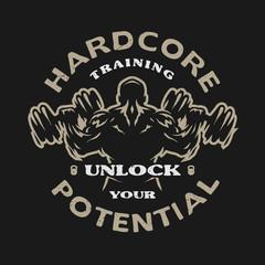 Hardcore training, emblem.