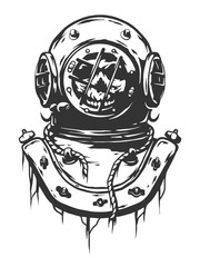 Old diving helmet.